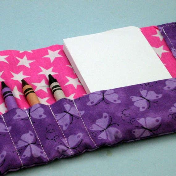 Pink and Purple Crayon Wallet